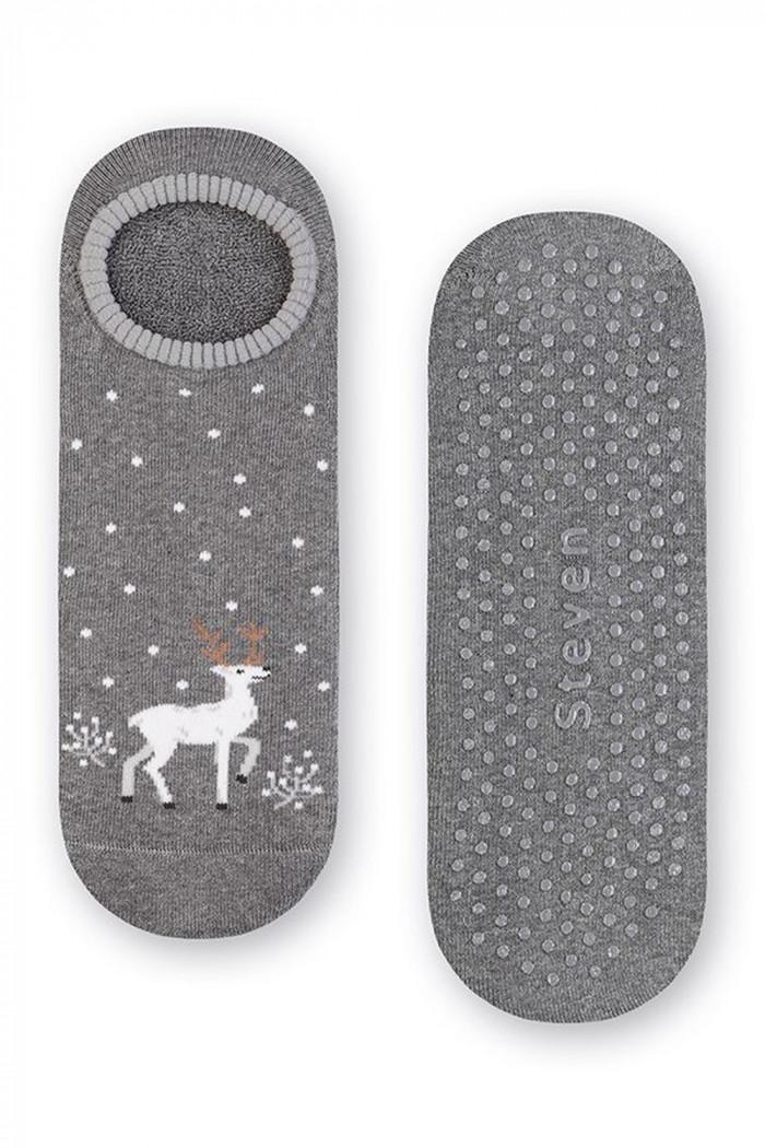 Махрові шкарпетки-сліди ABS Steven art.132 Snow