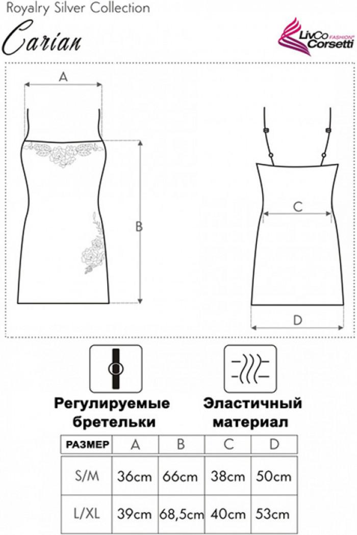 Спокуслива сорочка з мереживом Livia Corsetti Carian