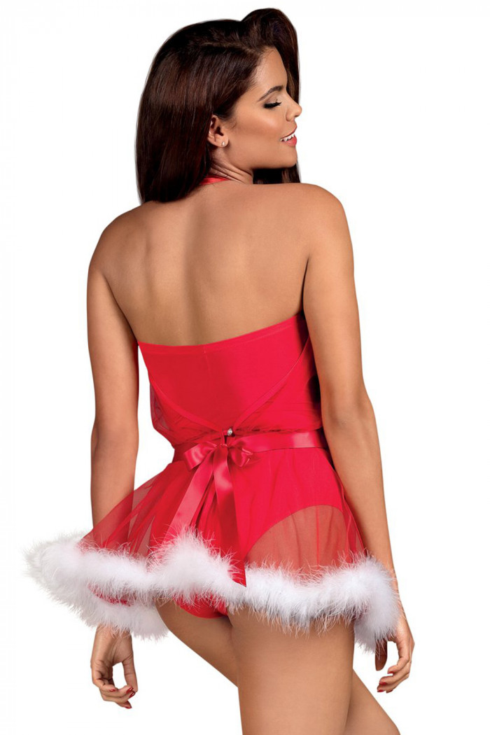 Новогоднее платье Obsessive Santastic