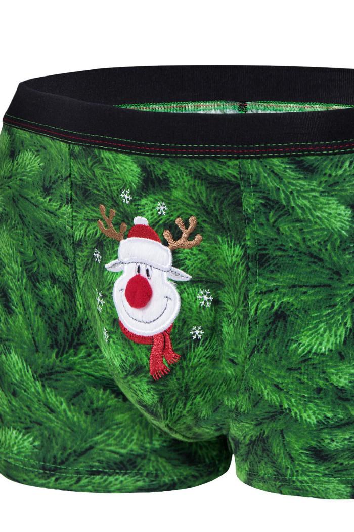 Трусы-боксеры с новогодним принтом Cornette 047/59 Rudolph