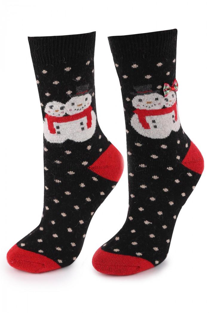 Носки теплые новогодние с шерстью Marilyn Angora TERRY R35