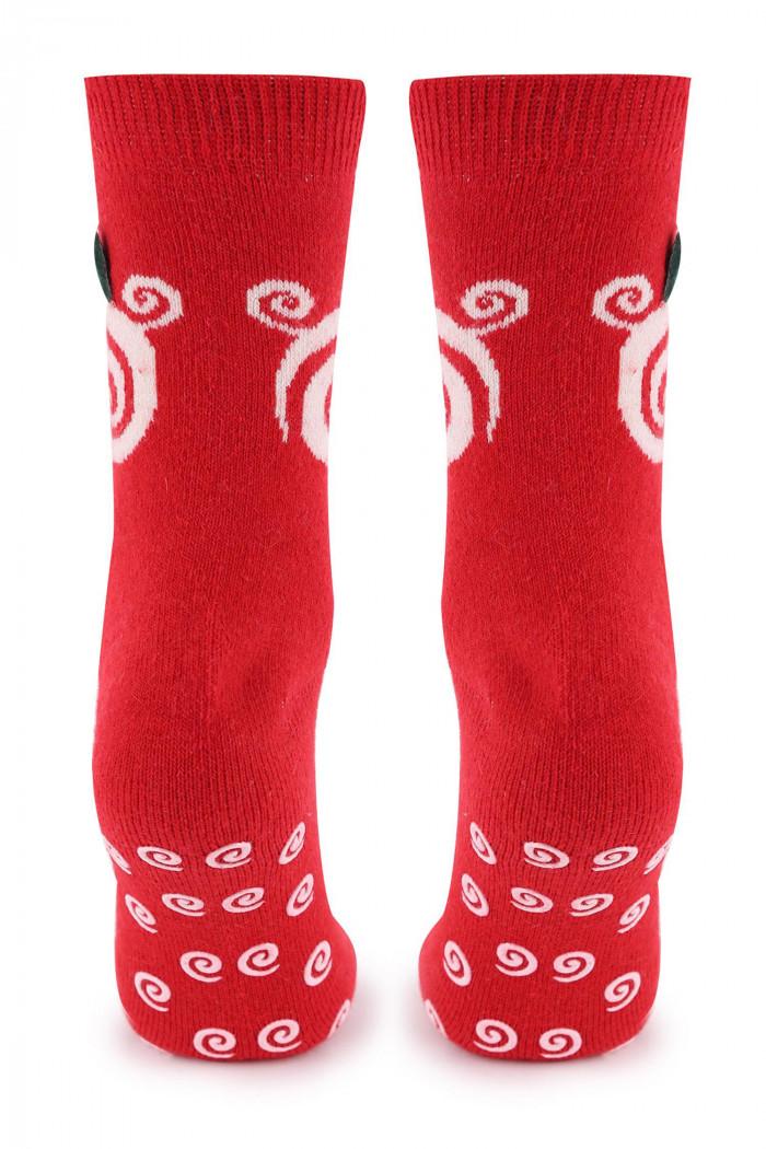 Носочки красные с шерстью MARILYN Angora No TERRY R36 ABS