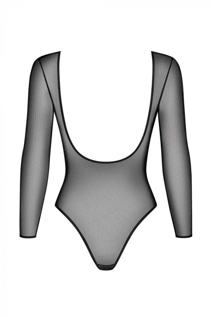 Люрексовой боді-сітка з відкритою спиною Obsessive B123