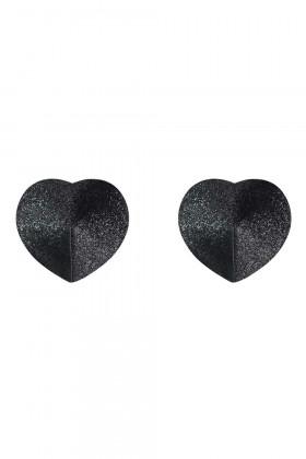Блестящие накладки-сердечки на грудь Obsessive A751