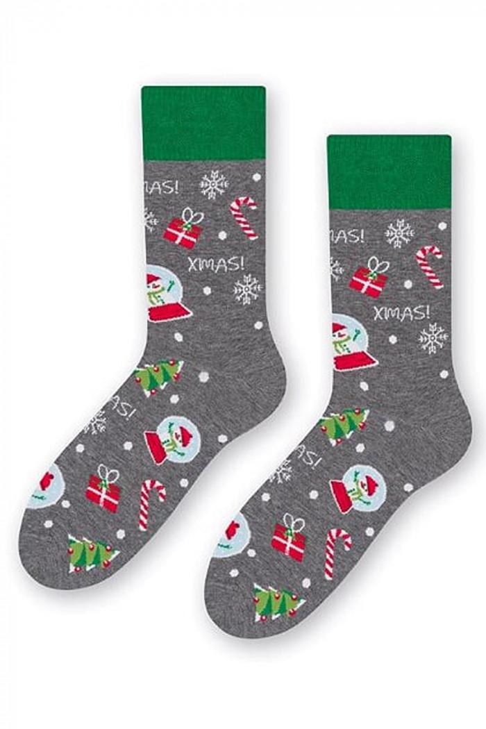 Шкарпетки чоловічі з новорічним принтом STEVEN art.136 Gift