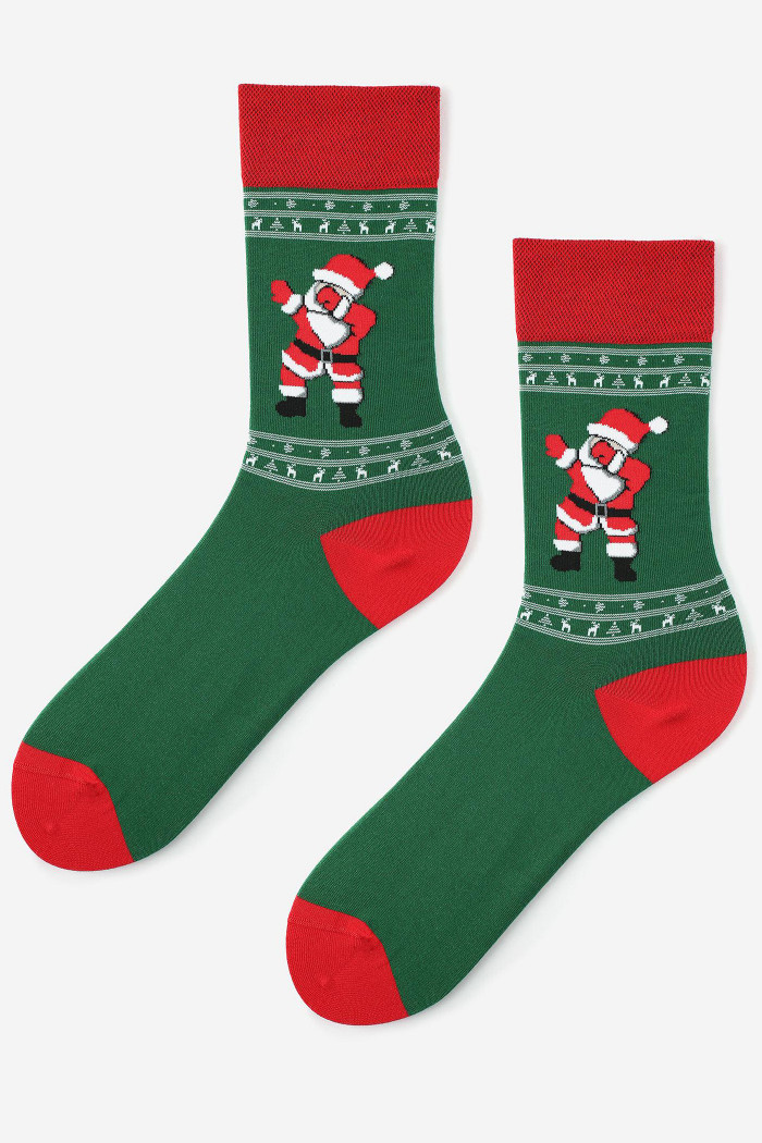 Шкарпетки чоловічі з новорічним принтом Marilyn Dancing Santa