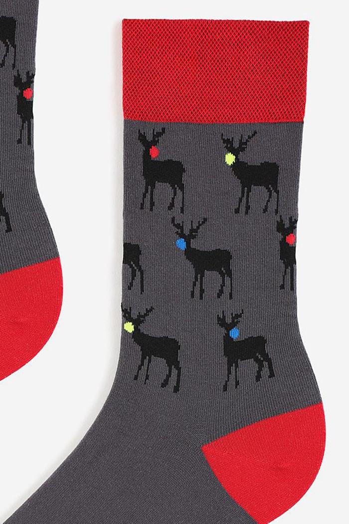 Носки мужские с новогодним принтом Marilyn Christmas Reindeer