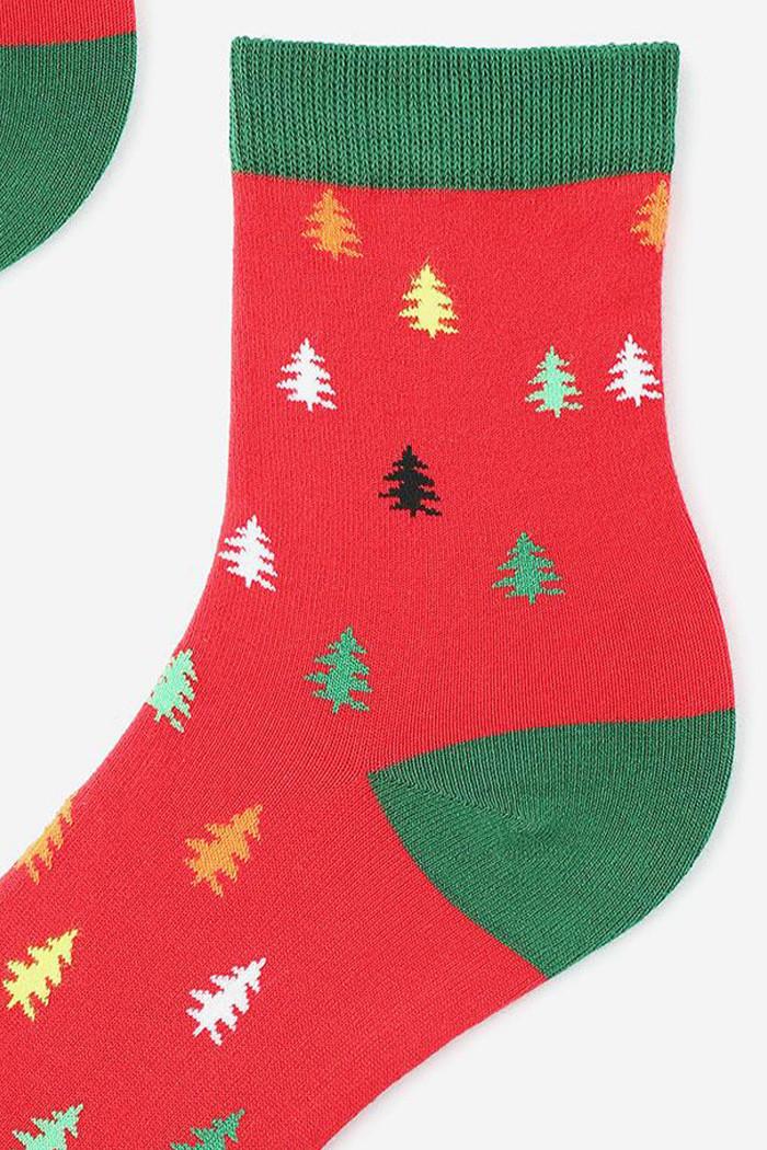 Носки женские с новогодним принтом Marilyn Christmas Trees