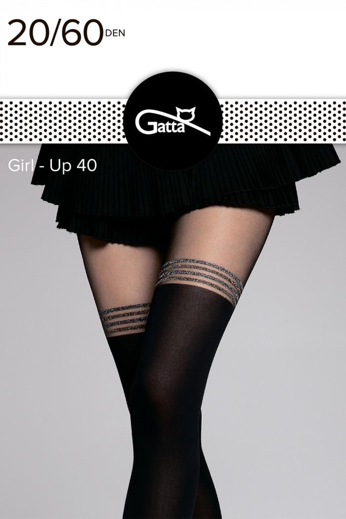 Колготки имитация чулок с люрексом Gatta Girl-up 40