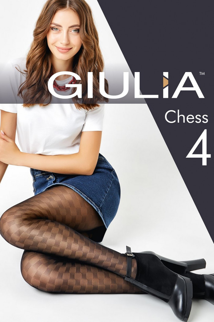 Колготки в шахову клітку GIULIA Chess Cell 40 model 1
