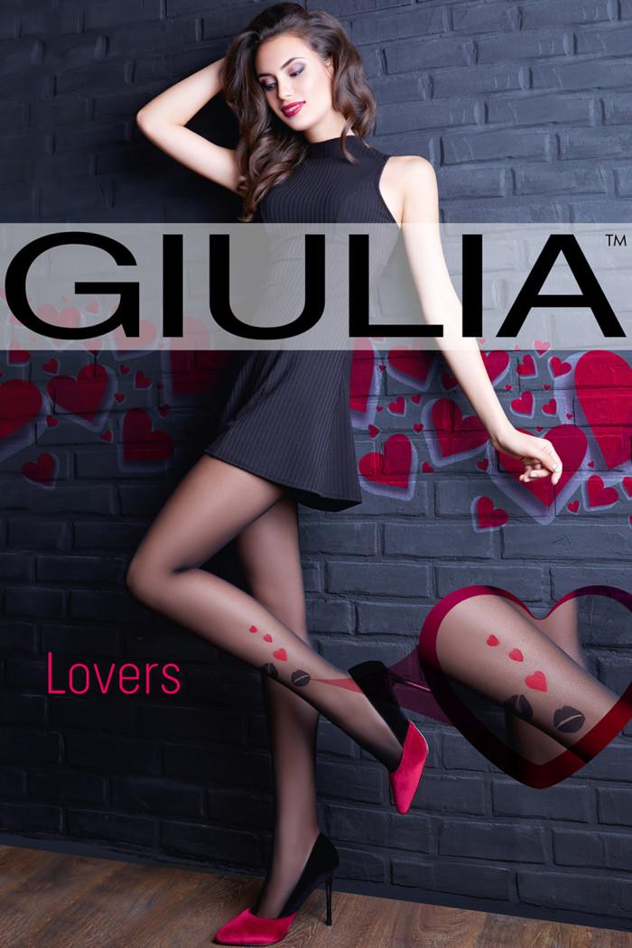 Колготки с красными сердечками GIULIA Lovers 20 model 11 (20 den)