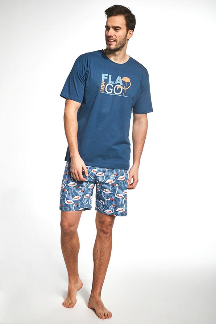 Чоловічий комплект з шортами Cornette 326/70 Flamingo