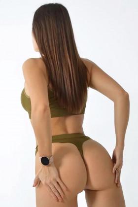 Tоп на тонких бретелях Giulia Brassiere Military Olive