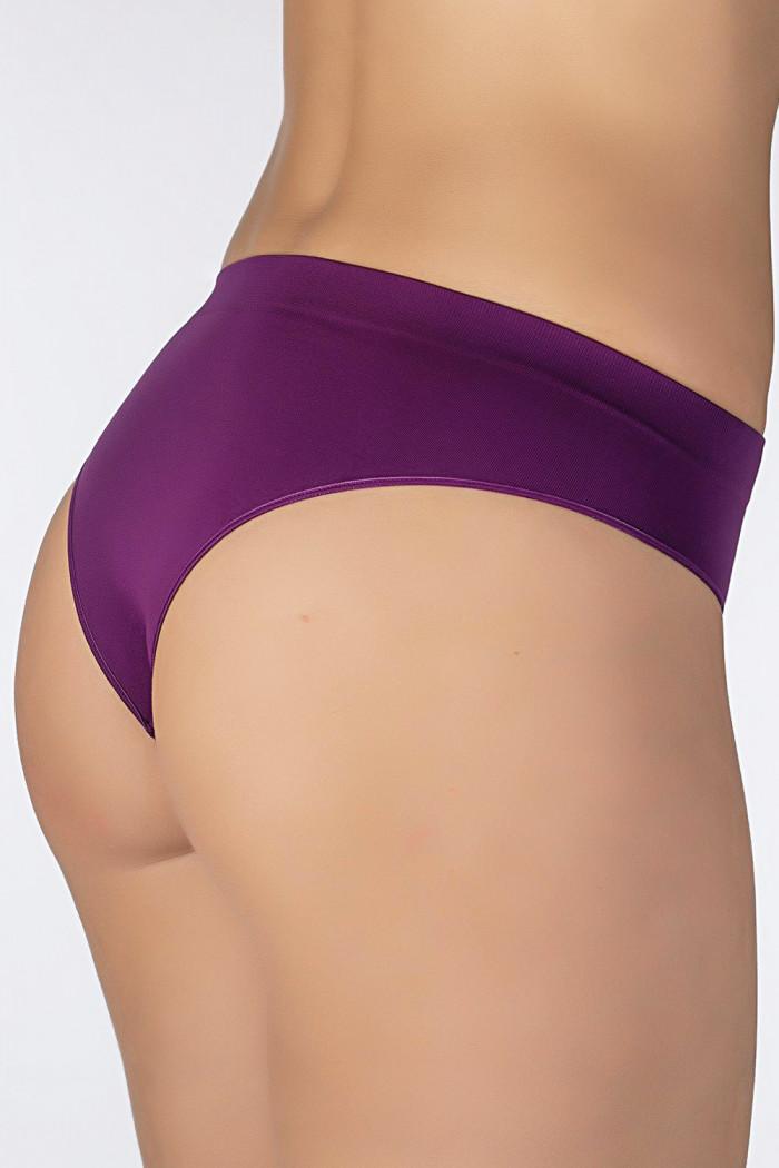Трусики-бразилиана безшовні Giulia Slip Brasilliana Magenta Purple