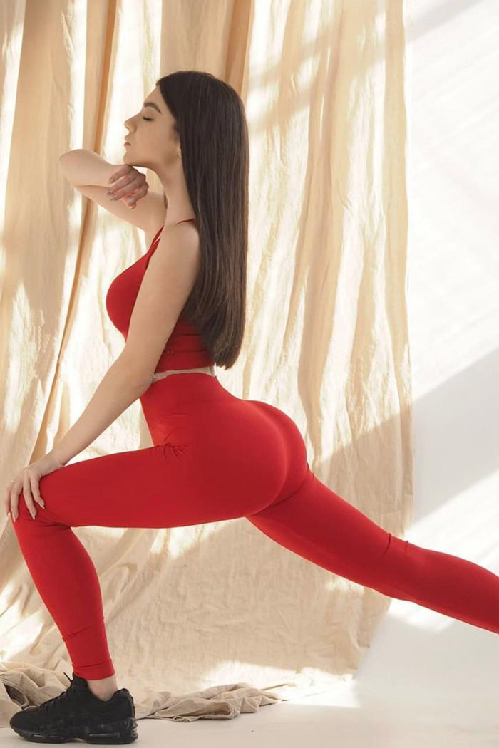 Легінси безшовні Giulia Leggings model 2 Aurora Red