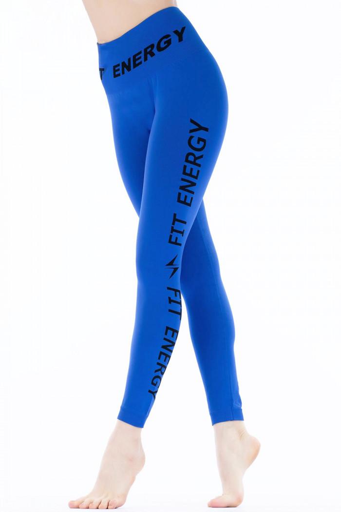 Леггинсы бесшовные спортивные Giulia Leggings Fit Energy Bright Blue