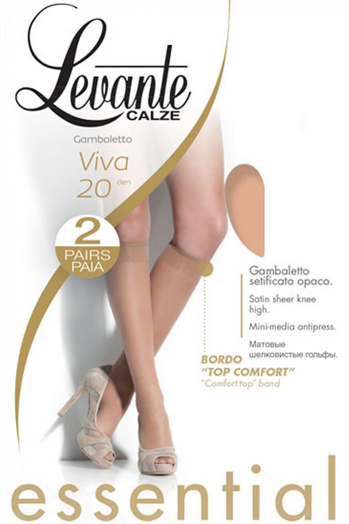 Гольфы тонкие LEVANTE Viva 20 den gambaletto (2 пары)