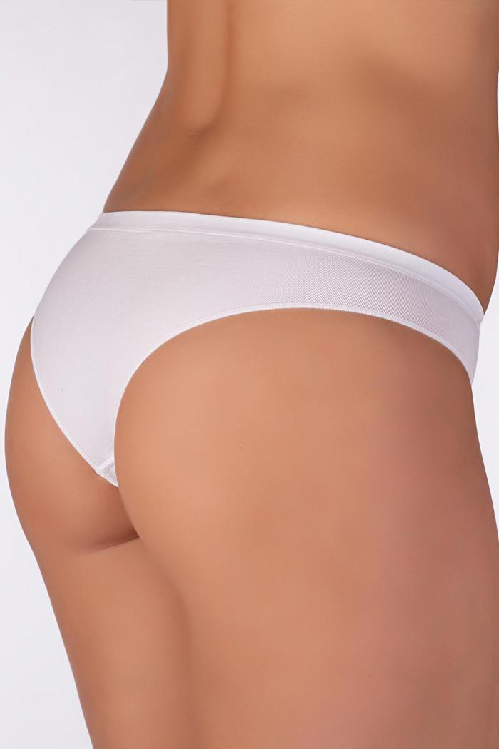 Безшовні трусики-бразіліана Giulia Brasilian briefs White