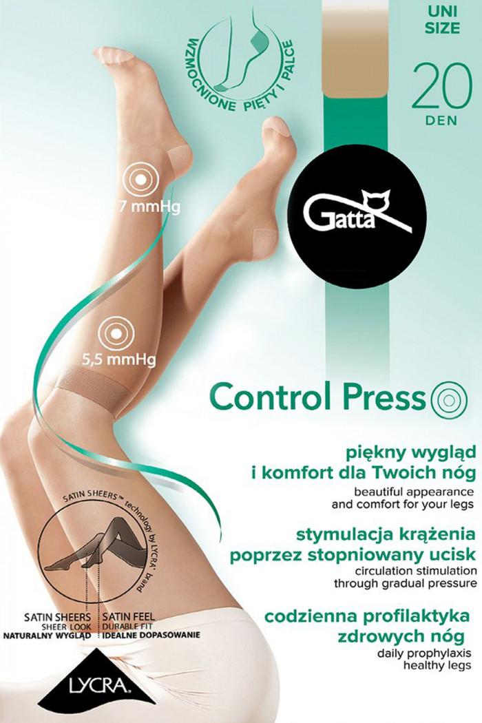 Гольфы с распределённым давлением GATTA Control Press 20den