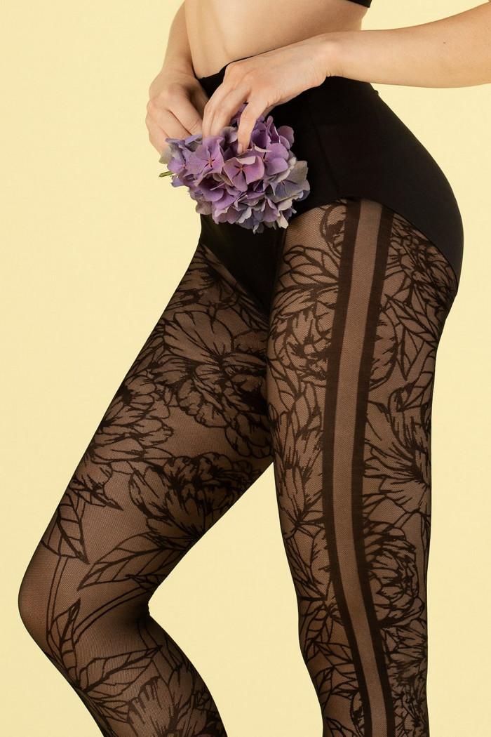 Колготки с цветочным рисунком Fiore LUSH GARDEN 30d