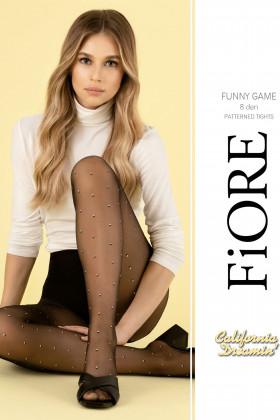 Колготки с мелким принтом Fiore FUNNY GAME 8d