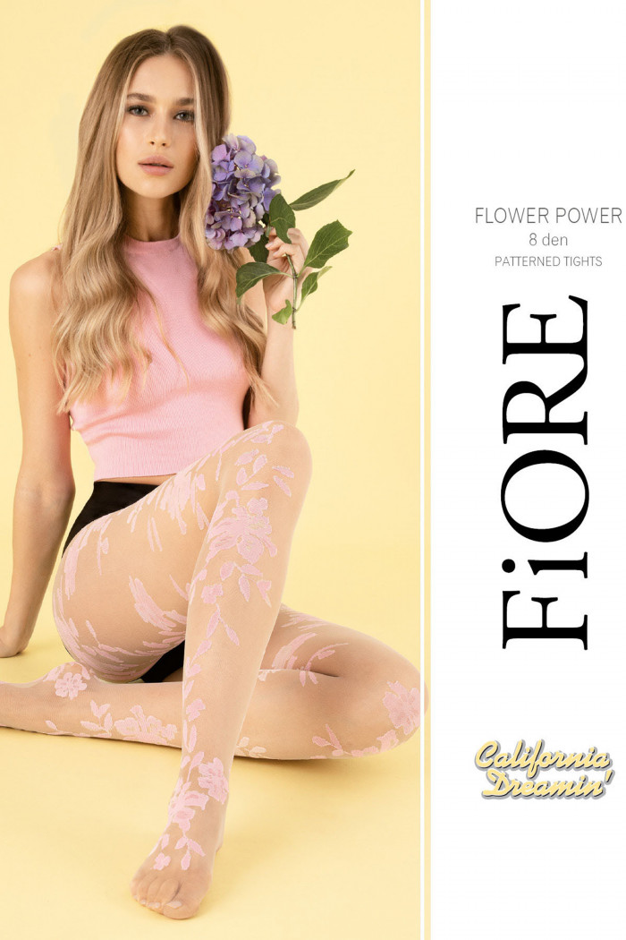 Колготки з квітковим малюнком Fiore FLOWER POWER 8d