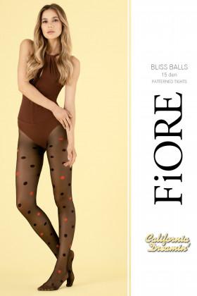 Колготки в великий кольоровий горошок Fiore BLISS BALLS 15d
