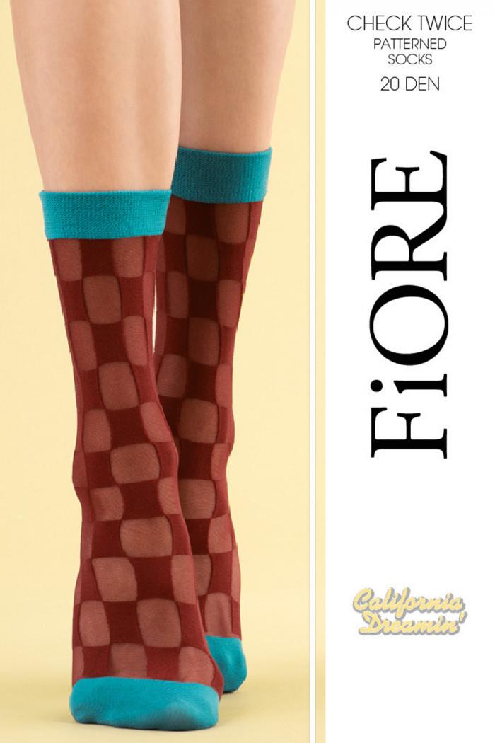 Шкарпетки в клітинку Fiore CHECK TWICE 20den