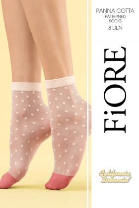 Шкарпетки в дрібний горох Fiore PANNA COTTA 8d