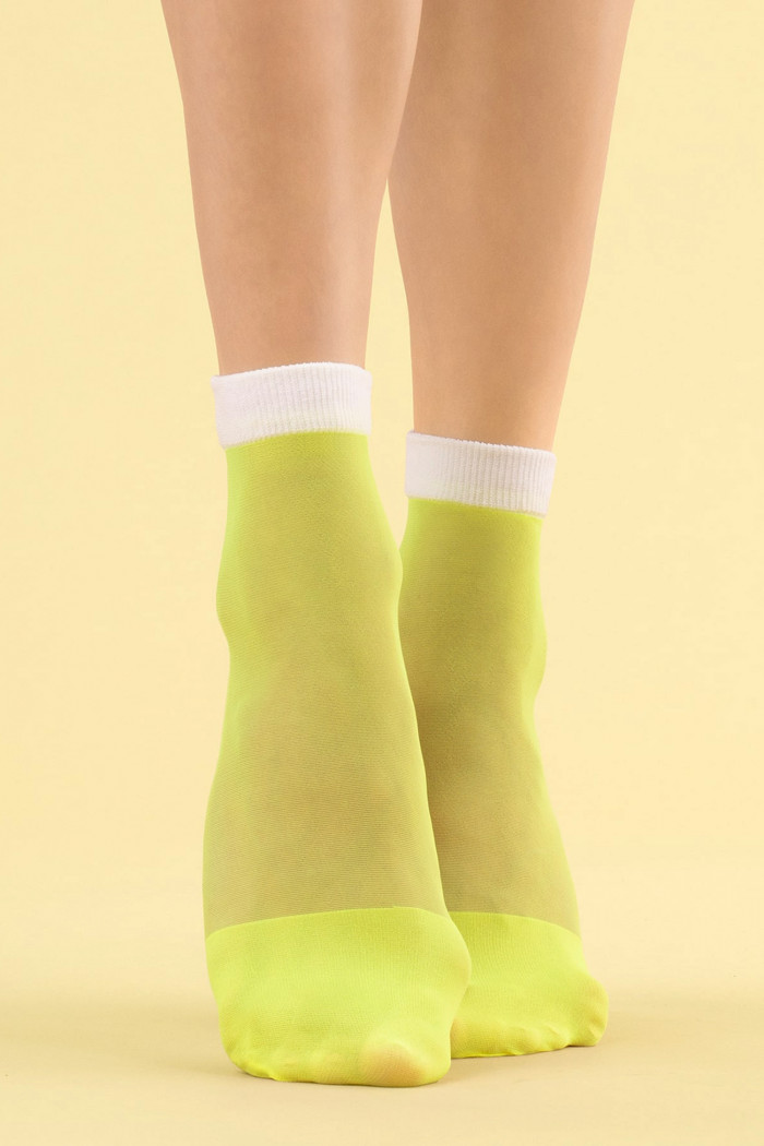 Прозрачные неоновые носочки Fiore JUICY LIME 8d