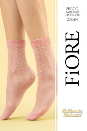 Шкарпетки в горошок з люрексом Fiore SECCO 20d
