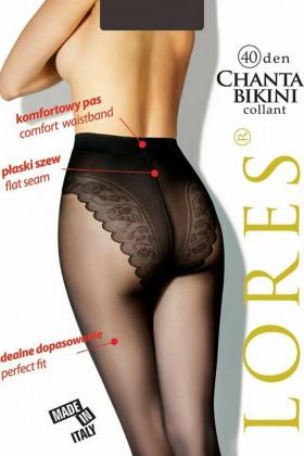 Колготки с кружевными трусиками LORES Chantal Bikini 40den