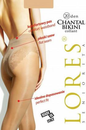 Колготки з мереживними трусиками LORES Chantal Bikini 20den