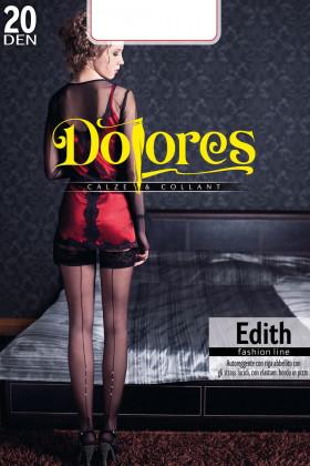 Панчохи зі швом-стрілкою і стразами Dolores Edith 20Den
