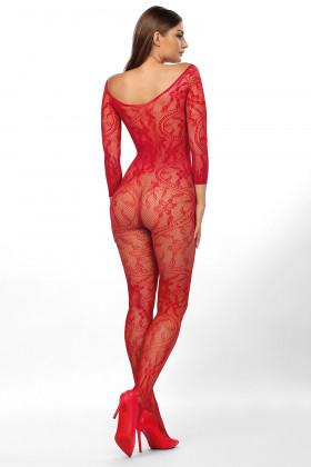 Комбинезон-сетка с интимным вырезом Anais Mirabella Red