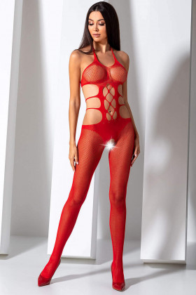 Бодистокинг-сетка с вырезом Passion BS 084 Red