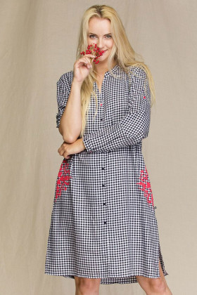 Жіноче плаття-сорочка в клітку Key LND 451 A21