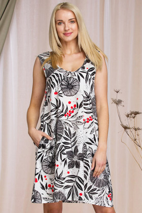 Летнее платье из льна Key LHT 945 A21
