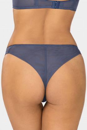 Трусики-бразилиана прозрачные Ewa Bien Tamal C322 Blue