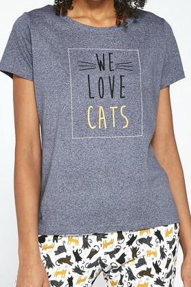 Комплект для дому бавовняний з котиками Cornette 497/196 Love cats