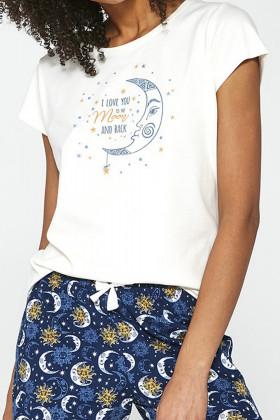 Комплект для дому з шортами і брюками Cornette 388/203 Moon 3-Pack