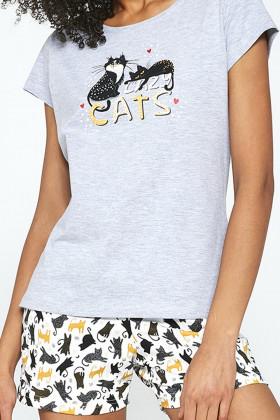 Комплект женский с шортами CORNETTE 628/194 Cats