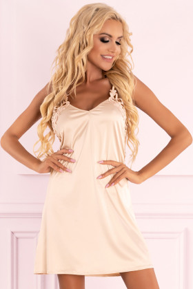 Атласна сорочка з трусиками Livia Corsetti Ziveron Light Pink