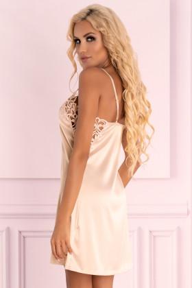 Атласная сорочка с трусиками Livia Corsetti Ziveron Light Pink