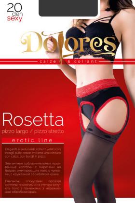 Чулки с кружевным поясом DOLORES Rosetta 20