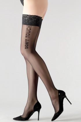 Чулки с надписью GIULIA Vogue 20 model 2