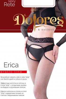 Чулки в сетку с кружевным поясом DOLORES Erica Rete
