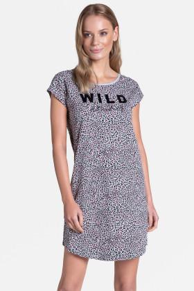 Платье домашнее с леопардовым принтом Henderson 38895 TIGER