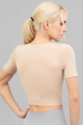 Топ бесшовный с короткими рукавами Giulia Crop T-Shirt Naturale