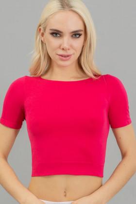 Топ з короткими рукавами Giulia Crop T-Shirt Raspberry sorbet